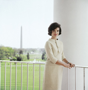 Jacqueline Kennedy in April of 1961 on the South Portico of the White House© 2012 Mark Shaw - Image 4027_0182