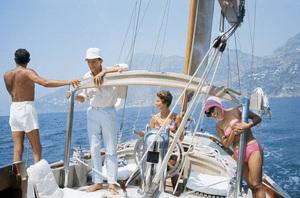 Pat Suzuki with Giovanni and Marella Agnelli in Ravello, Italy 1962© 2012 Mark Shaw - Image 4027_0188
