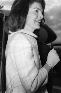 Jacqueline Kennedy on arrival at London Airport1966** J.C.C. - Image 4027_0202