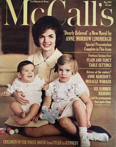 Jacqueline Kennedy with her children, John Jr. and Caroline, at home in the White House (McCall