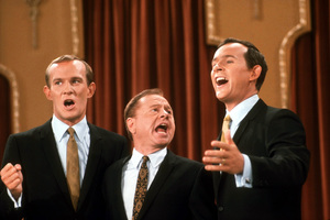 """Smothers Brothers Comedy Hour, The""Tom & Dick Smothers with Mickey Rooney1967 CBS © 1978 GuntherMPTV - Image 4085_0018"