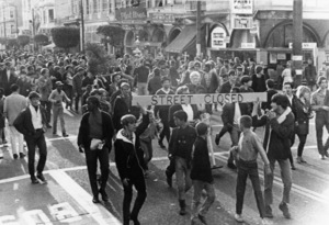 Hippies in the Haight Street, Haight-Ashbury district, San Francisco, CaliforniaApril 1967 - Image 4102_0013