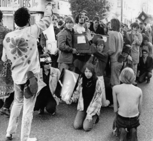Hippies in the Haight Street, Haight-Ashbury district, San Francisco, CaliforniaOctober 1967 - Image 4102_0014