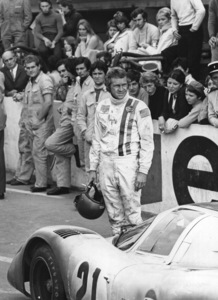 """Le Mans""Steve McQueen next to a Porsche 917Photo by Mel Traxel1971 Solar Productions - Image 4170_0018a"