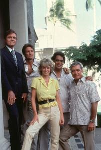 "Jack Lord, Herman Wedemeyer, Peggy Ryan""Hawaii Five-O,"" c. 1976 CBS - Image 4187_0007"