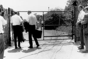 Charles Manson CaseCrime scene at Tate/Polanski home offBeverly Glen Drive in Los Angeles, CA.August 9, 1969 - Image 4203_0008