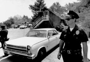 Charles Manson CaseCrime scene at Tate/Polanski home offBeverly Glen Drive in Los Angeles, CA.August 9, 1969 - Image 4203_0019