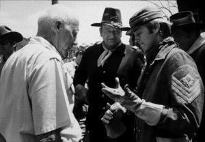 """""""Rio Lobo,"""" Cinema Center 1970.John Wayne and Chris Mitchum. © 1978 David Sutton - Image 4229_0012"""