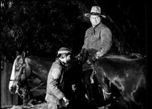 """""""Rio Lobo,"""" Cinema Center 1970.Chris Mitchum and John Wayne. © 1978 David Sutton - Image 4229_0013"""