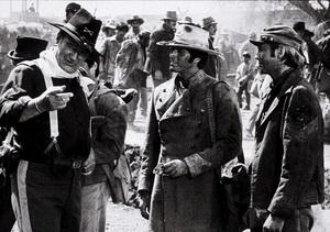 """""""Rio Lobo,"""" Cinema Center 1970.John Wayne and Chris Mitchum. © 1978 David Sutton - Image 4229_0016"""