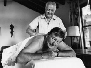 """Rio Lobo,""John Wayne and his trainer, Ralph Volkie1970 - Image 4229_0017"