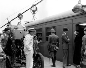 """Stamboul Quest"" Myrna Loy, George Brent, director Sam Wood, cinematographer James Wong Howe 1934 MGM Photo by Ted Allan"