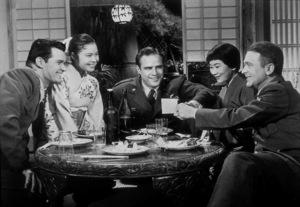 """Sayonara""James Garner, Marlon Brando, Miyoshi Umeki,Red Buttons1957 Warner Bros.MPTV - Image 4284_0003"