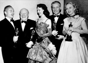 """""""The 20th Annual Academy Awards""""Darryl Zanuck, Edmund Gwenn, Loretta Young, Ronald Colman, Celeste Holm1948 - Image 4387_0001"""