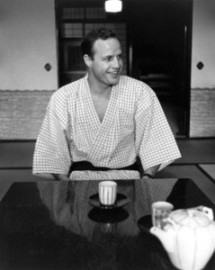 """""""The Teahouse of the August Moon""""Marlon Brando on the set1956 © 1978 Sanford Roth - Image 4432_0003"""