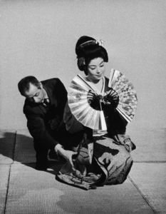 """Machiko Kyo on the set of """"The Teahouse of the August Moon""""1956 © 1978 Sanford Roth / AMPAS - Image 4432_0018"""