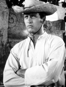 """""""Left Handed Gun, The""""Paul Newman on the set,1958. © 1978 Sanford Roth / AMPAS - Image 4433_0002"""