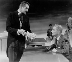 """""""The Story Of Mankind,""""Vincent Price and Ronald Colman.1957 Warner Bros. - Image 4512_0002"""