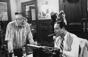 """""""Front Page, The""""Dir. Billy Wilder and Jack Lemmon1974 U-I © 1978 Gunther / MPTV - Image 4566_0036"""