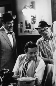 """""""Front Page, The""""Walter Matthau, Dir. Billy Wilder,Jack Lemmon / 1974 U-I © 1978 Gunther / MPTV - Image 4566_0042"""