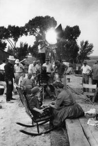 """The Proud Rebel""Director Michael Curtiz, David Ladd, Olivia de Havilland1958© 1978 Bill Avery - Image 4572_0004"