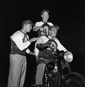 """""""Hollywood Entertainers Baseball Game"""" (Out of this World Series)Aldo Ray, Mickey Rooney, Keenan WynnMarch 17, 1952 / Gilmore Field in Hollywood, CA © 1978 Gerald Smith - Image 4580_0002"""