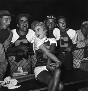 """Hollywood Entertainers Baseball Game"" (Out of this World Series)Harry James, Jeff Chandler, Hugh O"