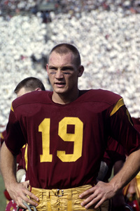 Hal Bedsole playing for the University of Southern California Trojans football team1962 © 1978 David Sutton - Image 4595_0011