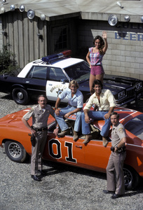 """The Dukes of Hazzard""Byron Cherry, Catherine Bach, Christopher Mayer1982 © 1982 Gene Trindl - Image 4599_0011"