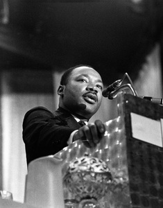 Dr. Martin Luther King Jr. speaking at the World Affairs Council in Los Angeles, CA1967Photo by Ernest Reshovsky © 2000 Marc Reshovsky - Image 4606_0008