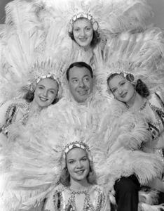 Joe E. Lewis with the Chez Paree Girls6/26/51 © 1978 Maurice Seymour - Image 4613_0003