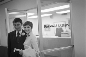 Vidal Sassoon and Beverly Adams on their wedding day1967 © 1978 Gunther - Image 4748_0010