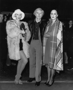 """Andy Warholwith Donna Jordan and Jane Forth at the New York Premiere of """"Investigation of a Citizen Above Suspicion"""" held at the Baronet Theatre on Third Ave.1970MPTV - Image 4795_0001"""