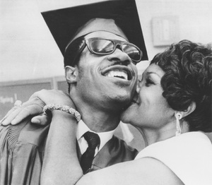 Stevie Wonder with his motherafter graduating from the Michigan School for the Blind6/11/1969 - Image 4804_0003