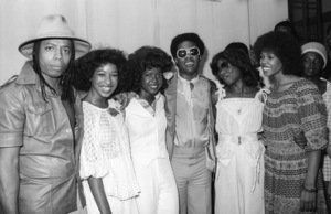 """Rick James and High Inergy with Stevie Wonder on """"Stevie Wonder Day"""" in Los Angeles11-18-1974© 1978 Bobby Holland - Image 4804_0034"""