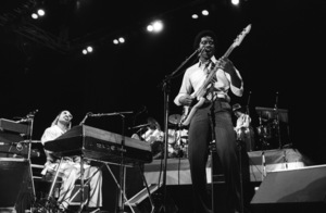 Stevie Wonder and Jermaine Jackson performing live in Los Angeles, CAcirca 1975© 1978 Bobby Holland - Image 4804_0041