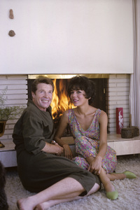 Robert Horton at home with his wife Marilynn Bradley1965© 1978 Gene Trindl - Image 4820_0004