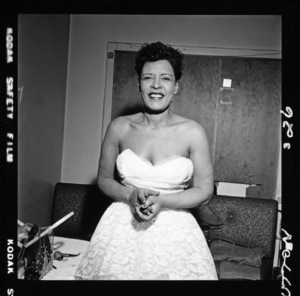Billie Holiday in her dressing room at the Crescendo on the famed Sunset Strip in Hollywood08-12-1955© 1978 David Sutton - Image 4861_0006