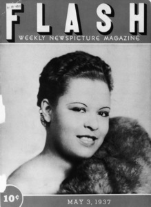 "Billie Holiday on the cover of the weekly newspicture magazine, ""Flash""May 3, 1937** I.V.M. - Image 4861_0014"