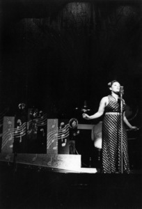 Billie Holiday performing at the Apollo Theater in New York City with The Count Basie Orchestra1937** I.V.M. - Image 4861_0021
