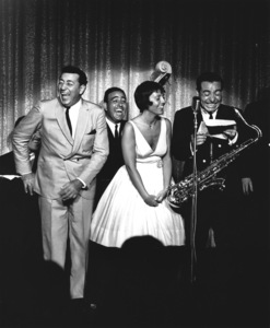 Louis Prima, Keely Smith and Sam Butera on location in Tahoe 1961 © 1978 Ken Whitmore - Image 4868_0021