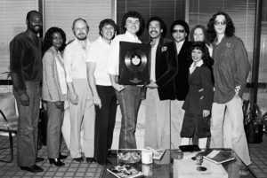 Smokey Robinson with staff of Radio & Records Magazine1983 © 1983 Bobby Holland - Image 4874_0007