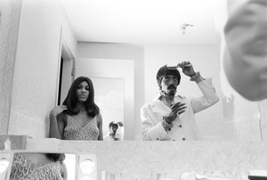 Tina Turner with Ike Turner in their dressing room before a show in Las Vegas1970 © 1978 Gunther - Image 4882_0014a
