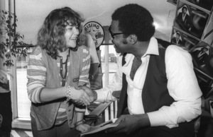 Billy Preston visiting Hollywood Music Plus Store to greet fans and Motown Records sales and promotion staff10-13-1979© 1979 Bobby Holland - Image 4884_0019