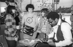 Billy Preston visiting Hollywood Music Plus Store to greet fans and Motown Records sales and promotion staff10-13-1979© 1979 Bobby Holland - Image 4884_0020