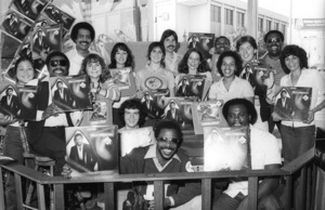 Billy Preston visiting Hollywood Music Plus Store to greet fans and Motown Records sales and promotion staff10-13-1979© 1979 Bobby Holland - Image 4884_0022