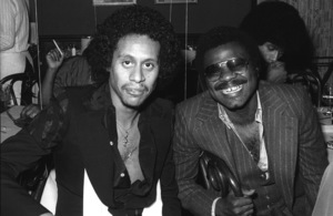Larry Dunn of Earth, Wind & Fire with Billy Preston backstage after a concert1980© 1980 Bobby Holland - Image 4884_0032