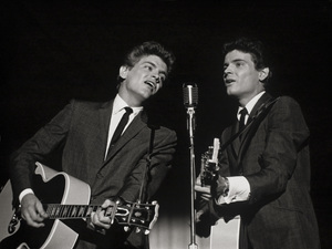 The Everly Brothers, Phil and Don, taken on stage at a live concert in New York City, New Yorkcirca 1961 © 2005 Michael Levin - Image 4956_0047