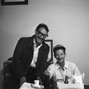 """Photographers David Sutton and Ted Allan during the filming of """"Von Ryan"""