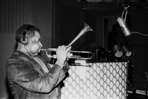 Dizzy Gillespie recording Stevie Wonder